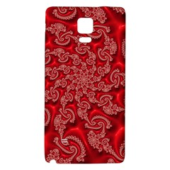 Fractal Art Elegant Red Galaxy Note 4 Back Case by Nexatart