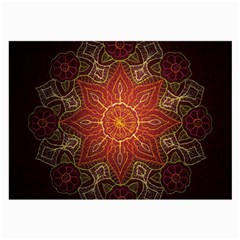 Floral Kaleidoscope Large Glasses Cloth by Nexatart