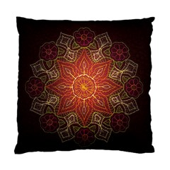 Floral Kaleidoscope Standard Cushion Case (one Side) by Nexatart