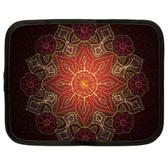 Floral Kaleidoscope Netbook Case (xxl)  by Nexatart