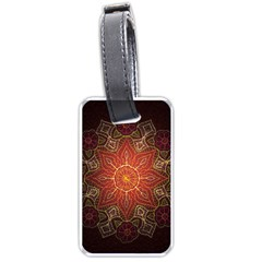 Floral Kaleidoscope Luggage Tags (one Side)  by Nexatart