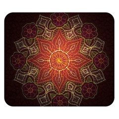 Floral Kaleidoscope Double Sided Flano Blanket (small)  by Nexatart