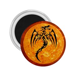 Dragon Fire Monster Creature 2 25  Magnets by Nexatart