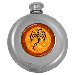 Dragon Fire Monster Creature Round Hip Flask (5 Oz)