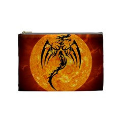 Dragon Fire Monster Creature Cosmetic Bag (medium)  by Nexatart