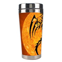 Dragon Fire Monster Creature Stainless Steel Travel Tumblers by Nexatart
