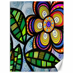 Folk Art Flower Canvas 36  X 48   by Nexatart