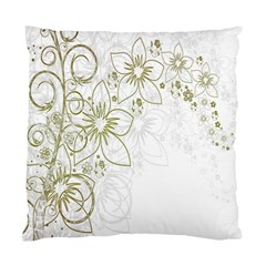 Flowers Background Leaf Leaves Standard Cushion Case (one Side)