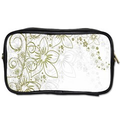 Flowers Background Leaf Leaves Toiletries Bags 2 Side by Nexatart