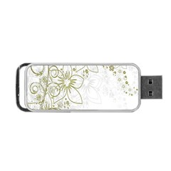 Flowers Background Leaf Leaves Portable Usb Flash (two Sides)