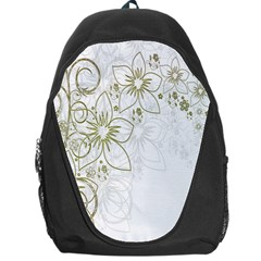 Flowers Background Leaf Leaves Backpack Bag by Nexatart