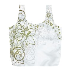 Flowers Background Leaf Leaves Full Print Recycle Bags (l)  by Nexatart