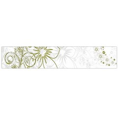 Flowers Background Leaf Leaves Flano Scarf (large) by Nexatart