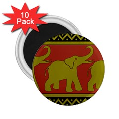 Elephant Pattern 2 25  Magnets (10 Pack)
