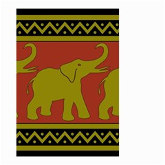 Elephant Pattern Small Garden Flag (two Sides) by Nexatart