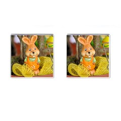 Easter Hare Easter Bunny Cufflinks (square)