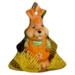 Easter Hare Easter Bunny Christmas Tree Ornament (Two Sides) Back