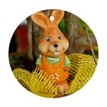 Easter Hare Easter Bunny Round Ornament (Two Sides) Back