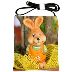 Easter Hare Easter Bunny Shoulder Sling Bags by Nexatart