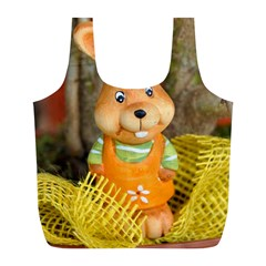 Easter Hare Easter Bunny Full Print Recycle Bags (l)  by Nexatart