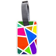 Geometric Blocks Luggage Tags (one Side)  by Nexatart