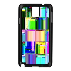 Glitch Art Abstract Samsung Galaxy Note 3 N9005 Case (black) by Nexatart