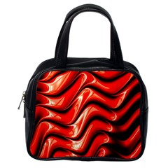 Fractal Mathematics Abstract Classic Handbags (one Side) by Nexatart