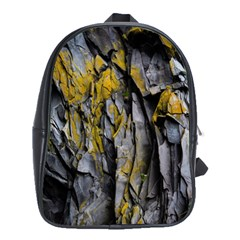 Grey Yellow Stone School Bags(large)  by Nexatart