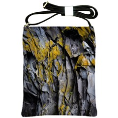 Grey Yellow Stone Shoulder Sling Bags