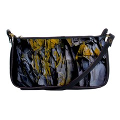 Grey Yellow Stone Shoulder Clutch Bags