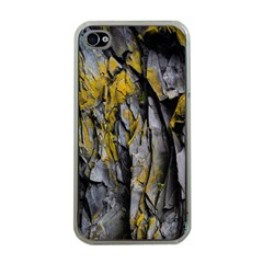 Grey Yellow Stone Apple Iphone 4 Case (clear)