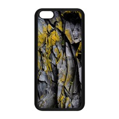 Grey Yellow Stone Apple Iphone 5c Seamless Case (black) by Nexatart