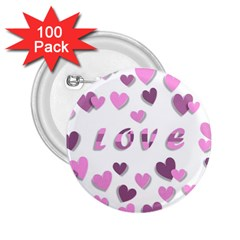 Love Valentine S Day 3d Fabric 2 25  Buttons (100 Pack)  by Nexatart