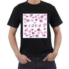 Love Valentine S Day 3d Fabric Men s T-shirt (black) (two Sided) by Nexatart