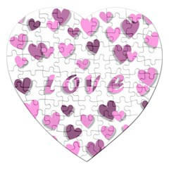 Love Valentine S Day 3d Fabric Jigsaw Puzzle (heart) by Nexatart