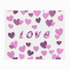Love Valentine S Day 3d Fabric Small Glasses Cloth (2 Side) by Nexatart