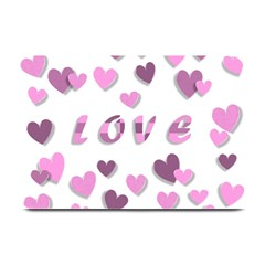 Love Valentine S Day 3d Fabric Plate Mats