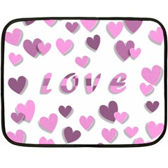 Love Valentine S Day 3d Fabric Double Sided Fleece Blanket (mini)  by Nexatart