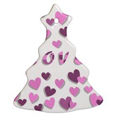 Love Valentine S Day 3d Fabric Christmas Tree Ornament (two Sides)