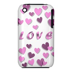 Love Valentine S Day 3d Fabric Iphone 3s/3gs by Nexatart