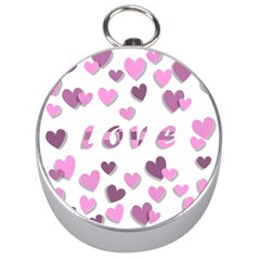 Love Valentine S Day 3d Fabric Silver Compasses by Nexatart
