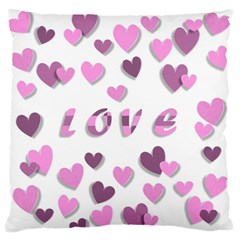Love Valentine S Day 3d Fabric Standard Flano Cushion Case (two Sides) by Nexatart