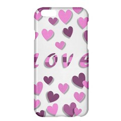 Love Valentine S Day 3d Fabric Apple Iphone 6 Plus/6s Plus Hardshell Case by Nexatart