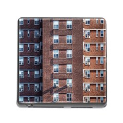 New York Building Windows Manhattan Memory Card Reader (square) by Nexatart