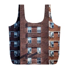 New York Building Windows Manhattan Full Print Recycle Bags (l)  by Nexatart