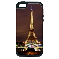 Paris Eiffel Tower Apple Iphone 5 Hardshell Case (pc+silicone)