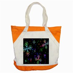 Nowflakes Snow Winter Christmas Accent Tote Bag by Nexatart