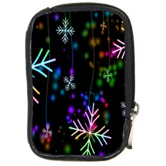 Nowflakes Snow Winter Christmas Compact Camera Cases by Nexatart