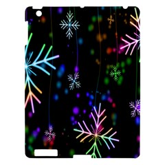 Nowflakes Snow Winter Christmas Apple Ipad 3/4 Hardshell Case by Nexatart