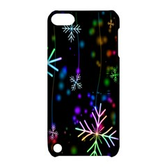 Nowflakes Snow Winter Christmas Apple Ipod Touch 5 Hardshell Case With Stand by Nexatart